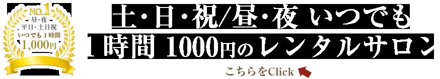 利用料金いつでも1000円
